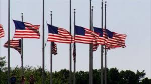 Americ Flags half staff
