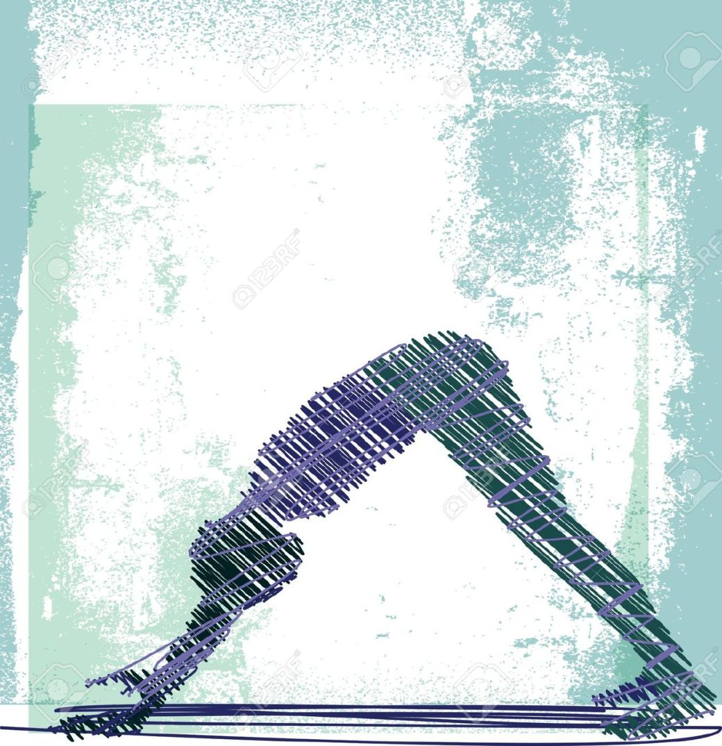 downward dog abstract